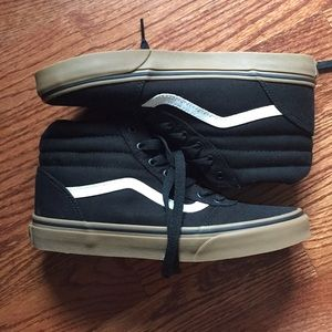 Black Vans High-Tops with Gum Sole